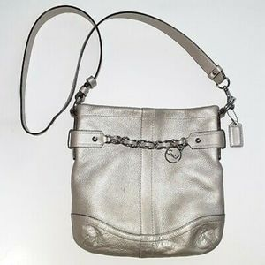 Coach F-19722 Leather Chain Duffel Convertible Bag
